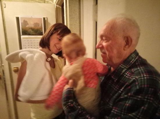 Посетили прадедушку Леву