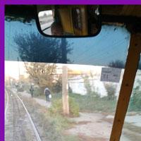 В трамвае