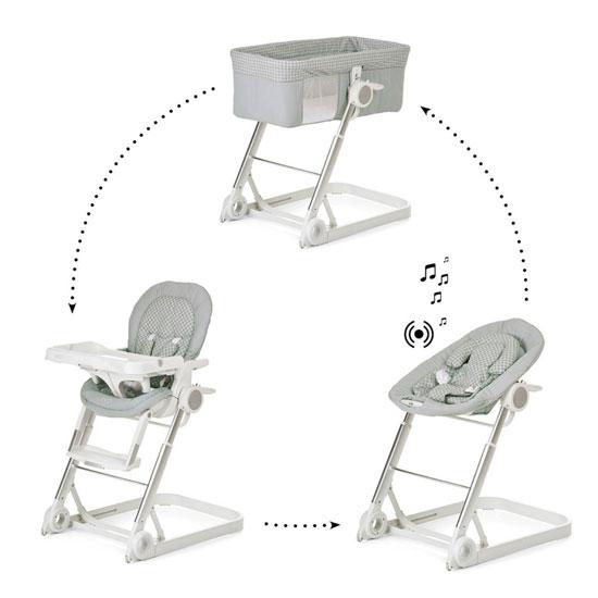 Превосходный вариант «3 в 1»: кроватка, качалка, стульчик для кормления