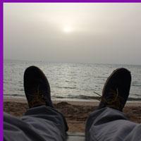 Рассвет на пляже в Хургаде