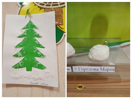 Детский досуг в яслях: рисуют елочку и лепят суши