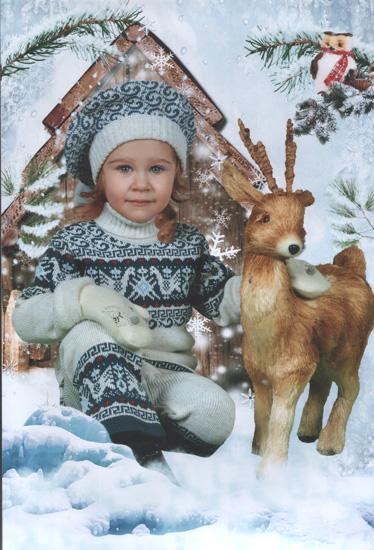 Наконец-то дошли фото с зимней фотосессии в садике.