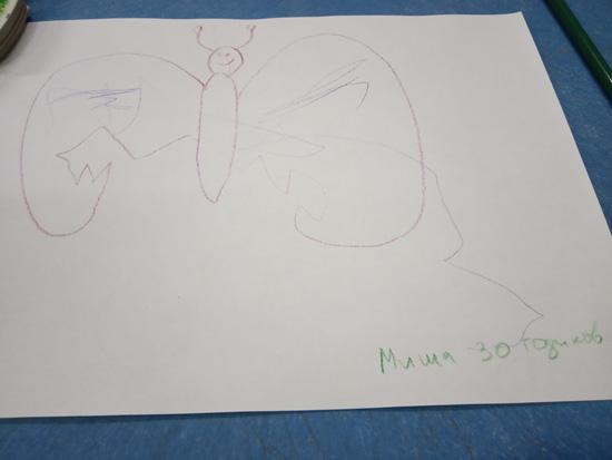 По многочисленным просьбам трудящихся (Маши) нарисовал бабочку. Не зря говорят, талантливый человек - талантлив во всем.